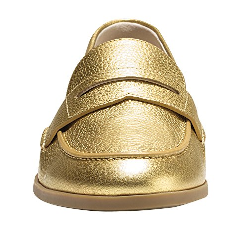 Flat Penny Cole Metallic Haan Loafer Grand Pinch Gold Women's HxpSqa