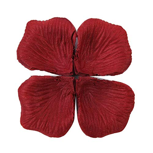 Viet JK Wedding Decorations - 100pcs/pack Romantic Artificial Rose Flower Silk Rose Petals for Party Event Valentines Day Wedding Decoration Favors]()