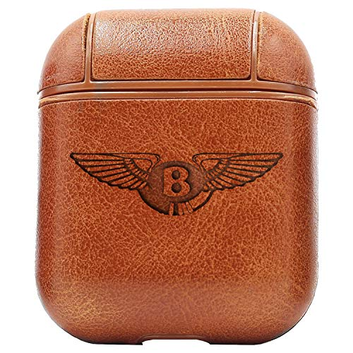 Logo Bentley Motors (Vintage Brown) Engraved Air Pods Protective Leather Case Cover - a New Class of Luxury to Your AirPods - Premium PU Leather and Handmade exquisitely by Master Craftsmen