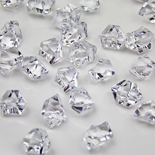 - Clear Acrylic Ice Rock Crystals Treasure Gems for Table Scatters, Vase Fillers, Wedding, Banquet, Party, Event, Birthday Decoration (Clear, 150)
