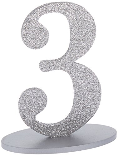 Kate Aspen Glitter Acrylic Table Numbers (1-6),