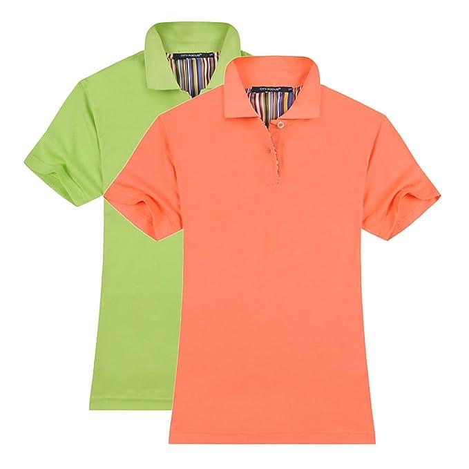 8014d016 Averywin Polo Shirts Womens, Plain Short Sleeve Polo Shirt Leisure Tee Tops  Tshirts Pack of