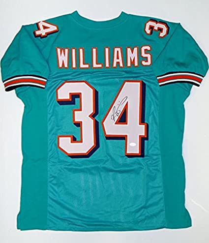 Signed Ricky Williams Jersey - Teal Pro Style W - JSA Certified ... 1a8e019f9