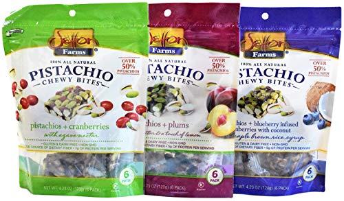 Setton Farms - All Natural Pistachio Chewy Bites - 4.2 Ounces (Pack of 3) (Bundle - 3 Flavors) (Setton Farms Pistachios)
