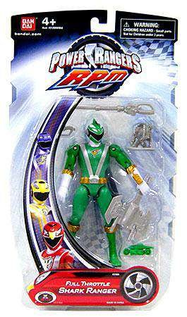 Power Rangers RPM 5 Inch Basic Action Figure Full Throttle Shark Ranger (Green) (Power Rangers Rpm Toys)