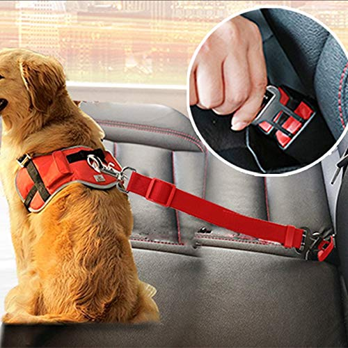 YYi-kuG Vehicle Car Pet Dog Seat Belt Puppy Car Seatbelt Harness Lead Clip Pet Dog Supplies Safety Lever Auto Traction Products (Color : Red)
