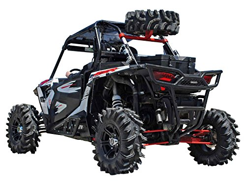 SuperATV Spare Tire Carrier for Polaris RZR XP 1000 / XP 4 1000 - Wrinkle Black