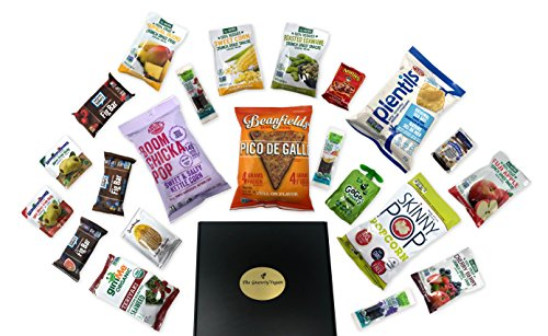 The Gnawty Vegan Snack Box: Variety Pack (Pack of 22), Natural, Organic, Non-GMO, Dried Veggies, Dried Fruit, Chips, Crackers, Vegan Care Package by The Gnawty Vegan