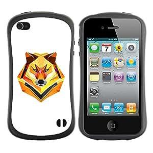 Suave TPU GEL Carcasa Funda Silicona Blando Estuche Caso de protección (para) Apple Iphone 4 / 4S / CECELL Phone case / / Minimalist Polygon Wolf /