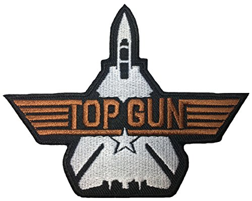 TOP GUN US Navy Fighter Pilot Military Band Logo Jacket Vest shirt hat blanket backpack T shirt Patches Embroidered Appliques Symbol Badge Cloth Sign Costume Gift 9 x 11cm