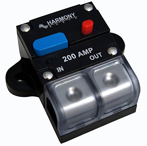 Harmony Audio HA-CB200 Car/Marine Stereo Manual Reset 200 Amp Circuit Breaker 12 Volt by Harmony Audio