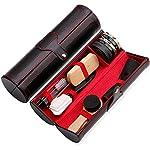 10 Pièces Kit de Cirage Kit d'entretien pour Chaussures Kit Nettoyage Chaussure avec Voyage Étui PU - Très complet… 6
