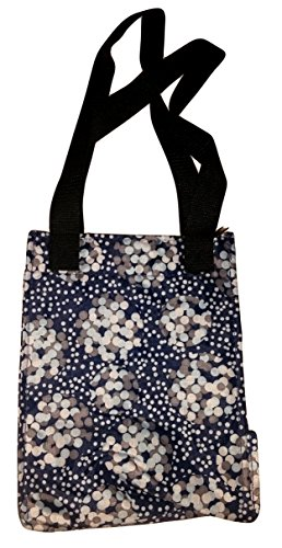Lunar Lily Reusable Insulated Lunch Tote Bag Floral Geometic Paisley (Blue Dots)