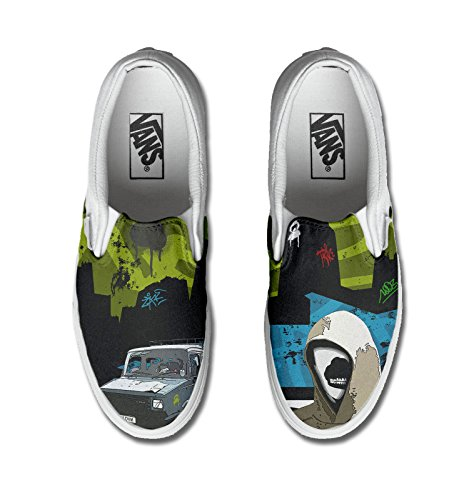 shoes Unisex - Adulto Make Your vans con stampa artigianale personalizzata prodotto street tg