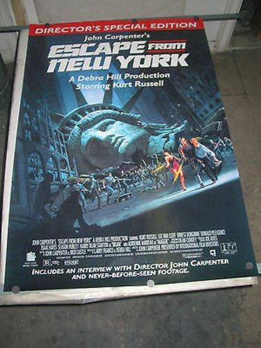 ESCAPE FROM NEW YORK/1994 VIDEO RELEASE POSTER (KURT RUSSELL/JOHN CARPENTER)