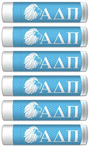 Alpha Delta Pi Smooth Mint Lip Balm with SPF 15, Aloe Vera, Beeswax (6pk), by Worthy (stocking stuffer gift idea)