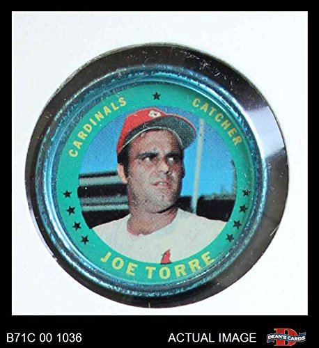 Louis St Coin (1971 Topps Coins # 11 Joe Torre St. Louis Cardinals (Baseball Card) Dean's Cards 3 - VG Cardinals)