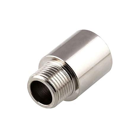 Lorsoul Acero Inoxidable Extensor de oxígeno, M18x1.5 del Sensor de oxígeno del Espaciador