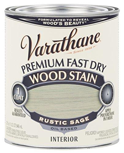 Varathane Floor Premium (Rust-Oleum 297426 Rustic Sage Varathane Premium Fast Dry Wood Stain, 1 quart, 2 pint Can (Pack of 2))