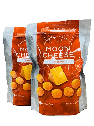 Cheddar Cheese Real (Moon Cheese, Cheddar, 10oz (2Pack)(Total:20oz))