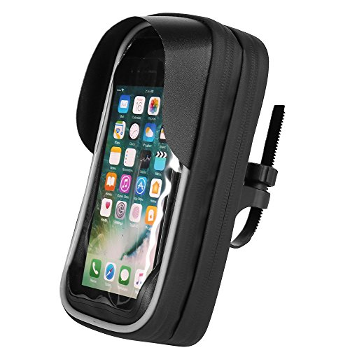 Jlyifan Touch Screen GPS Navigation Sunshade Waterproof Bike Phone Mount Bag Bicycle Frame Bike Handlebar Bags Case For iPhone X/iPhone 8 Plus / 7 Plus/Samsung Galaxy S9 / S9 Plus / S8 Active/Note 8