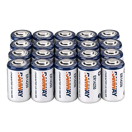20 x Li-ion 3.6V 1/2AA ER14250 LS14250 ER14250H 1200mAh Meter Battery Household Batteries