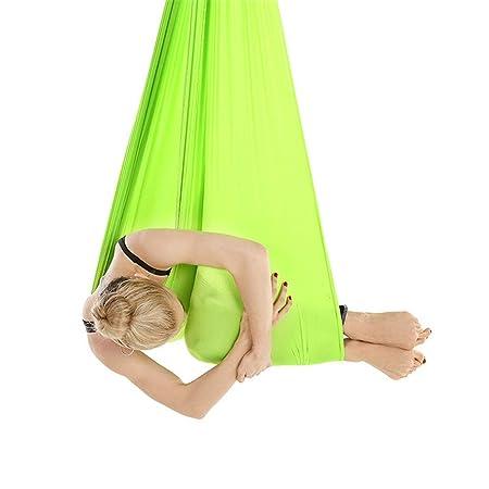 Hamaca de yoga aérea Hamaca de yoga Estiramiento aéreo 2.8m ...