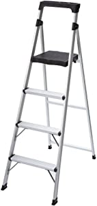 4-Step Ultra-Light Aluminum Step Stool Ladder with 225 lb. Load Capacity