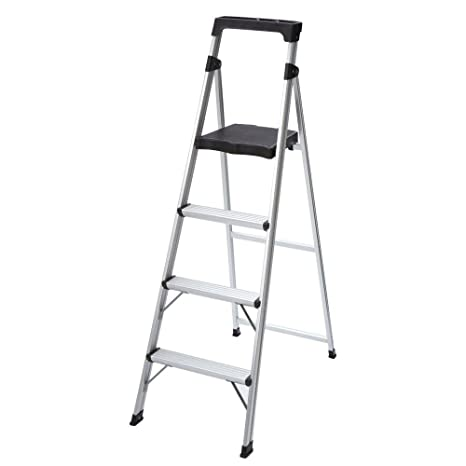 Prime 4 Step Ultra Light Aluminum Step Stool Ladder With 225 Lb Load Capacity Pabps2019 Chair Design Images Pabps2019Com