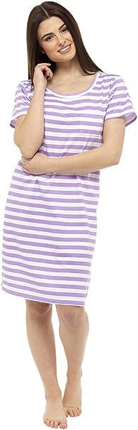 TALLA 8-10 GB. Hari Deals Mujer Camisón Camiseta Lema Pijama Camisón Camisa