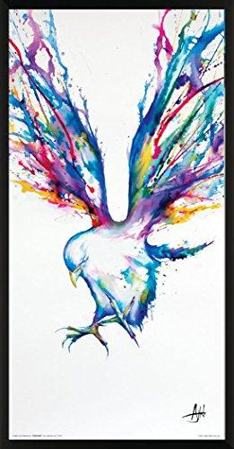 Culturenik Marc Allante Achilles Bird Modern Contemporary Animal Decorative Art Print (Framed 12x24 Poster)