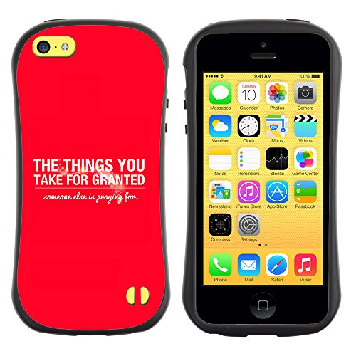 DREAMCASE Citation de Bible Silicone et Rigide Coque Protection Image Etui solide Housse T¨¦l¨¦phone Case Pour APPLE IPHONE 5C - THE THINGS YOU TAKE FOR GRANTED