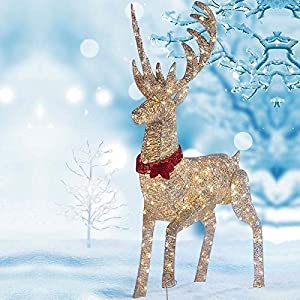 "64""(1.6M) LED Reindeer Outdoor/Indoor Christmas Decoration ..."