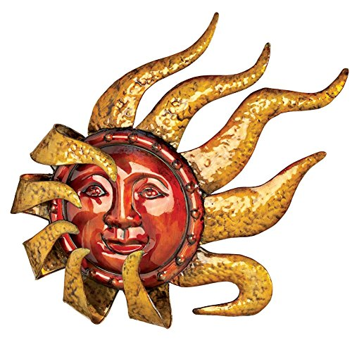 Smiling Metal Sun Wall Decor
