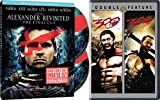 Historical Battle Action 3-Movie Set - Alexander Revisited: The Final Cut (2-Disc Special Edition) - 300 & 300 Rise of an Empire 4-DVD Bundle