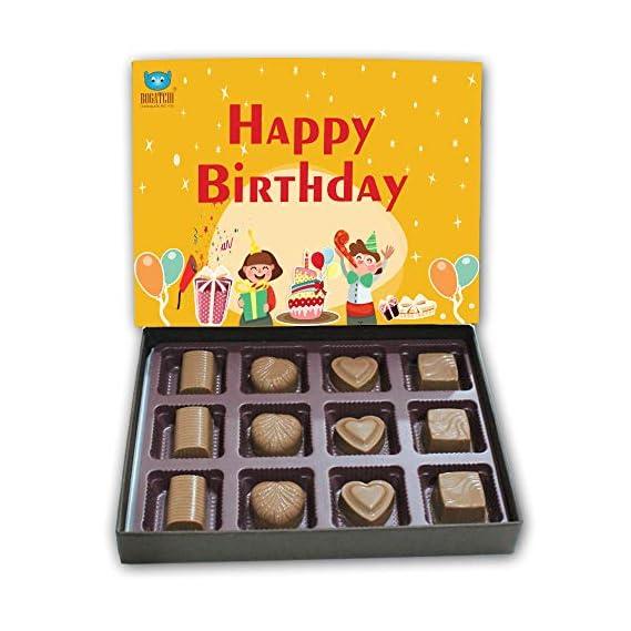 BOGATCHI Gift Ideas, Happy Birthday Chocolate Box, Blessings, Dark Chocolates, Love Chocolates, Premium Chocolates, 120