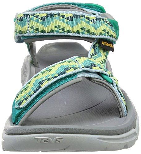 Teva Terra Fi 4 W's, Sandalias de Senderismo para Mujer Verde (Palopa Sea Green)