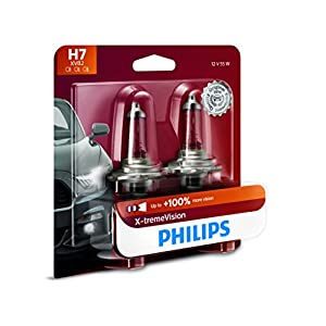 Philips 12972XVB2 H7 X-tremeVision Upgrade Headlight Bulb, 2 Pack