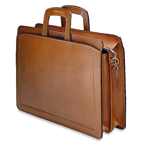 Jack Georges Belting Slim Briefcase (TAN) Jack Georges Slim Briefcase
