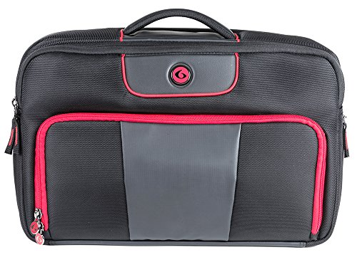 Executive Briefcase with Insulated Meal Management System, Black/Red, (300-3 Meals) (Isobag 3 Meal System)