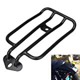 Ambienceo Motorcycle Solo Seat Rear Luggage Rack Support Shelf for Harley Davidson Sportster Nightster Roadster Seventy-Two Black