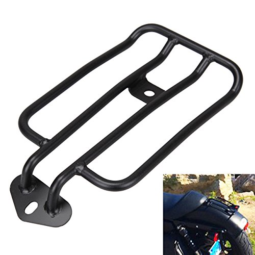 (Sange Black Motorcycle Rear Fender Rack Solo Seat Luggage Rack lated Luggage Shelf for Harley Sportster XL 883 1200 77-0073 77-0073-B)