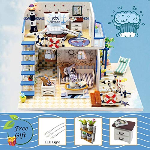 Kiartten Doll House - Doll House Furniture Miniature Dollhouse DIY Miniature House Room Box Theatre Toys for Children Stickers DIY Dollhouse K 1 Pcs