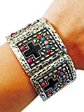 Fitbit Bracelet for FitBit Flex Activity Tracker - The GRACE Silver Rhinestone Cross Fitbit Bracelet
