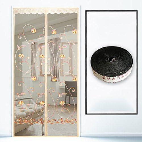 J&DSSSU Cortina magnética para balconeras Pantalla Cortina de la Puerta del Acoplamiento para Puerta corredera de Balcón de Sala de los Niños de Estar-Beige 130x220cm(51x87inch): Amazon.es: Hogar