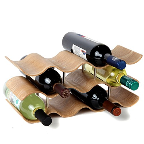 Lily's Home Countertop Wave Wine Rack, Wood, Elegant for sale  Delivered anywhere in USA