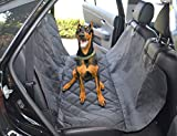 ANJUREN Dog car Seat Cover Car Bench Seat Cover for Pets Back Seat Protector Waterproof Pet Hammock Convertible Nonslip Quilted Adjustable fit More Cars SUVs Trucks