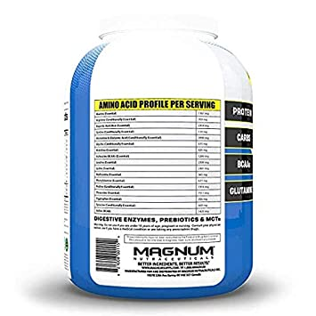 Magnum Brawn – Vanilla – 4.4lbs – Muscle Building Pharmaceutical Grade Protein – Low Lactose – Gluten Free – Delicious Flavor