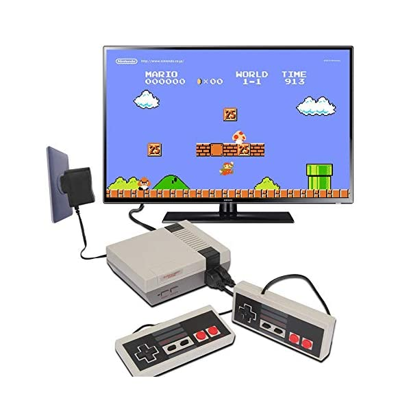 Adult TV Video Games Console Player for Kids Classic Handheld Video Game Console Built-in 620 Games with NES-Style Classic Controllers Hawiton Retro Game Console Christmas// Birthday Gift Children
