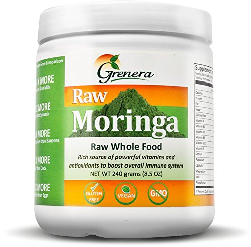 Certified Organic Raw Moringa 240 Grams